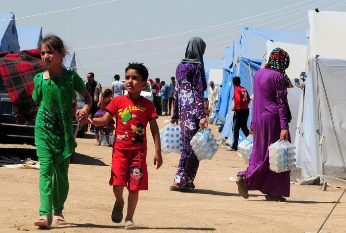 Iraqi refugees in Erbi