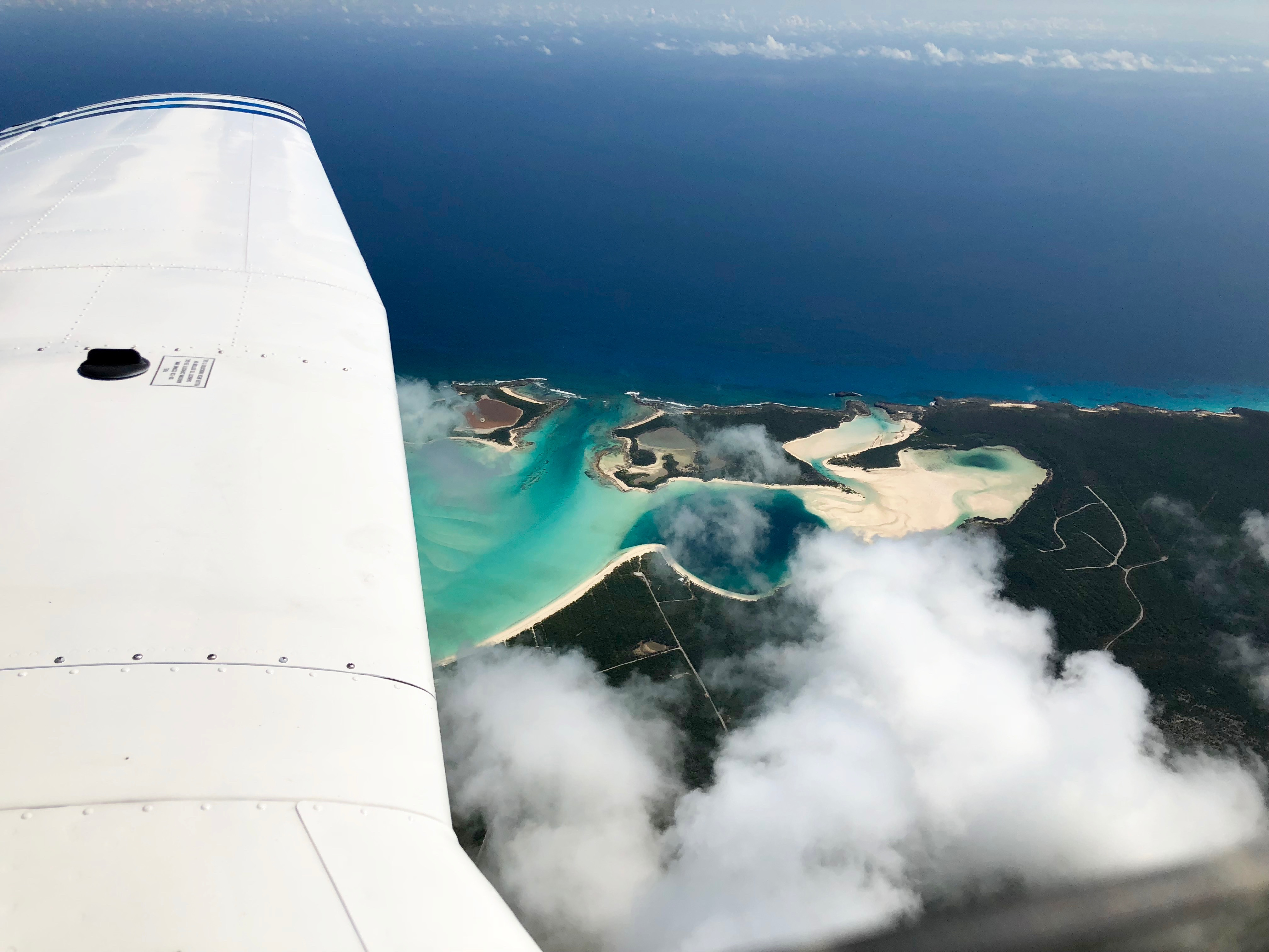 Overflying Southern Islands